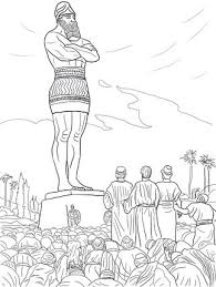 Shadrach Meshach And Abednego Refused To Worship The Statue Daniel Might Be A Good Coloring Sheet For Littles