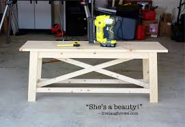 Completed Rustic Bench With Livelaughrowe