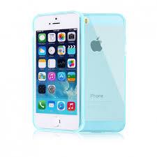 coque iphone 5 5s se gel transparent bleu ciel 4 99