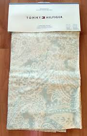 tommy hilfiger mission paisley beige gray window curtain panels