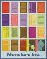Monsters Inc retro style poster