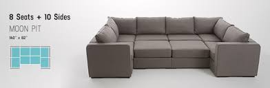 Sofa Beds Design Attractive Contemporary Pit Sectional