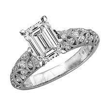 Get Quotations 123 Carat Tw GIA Certified Emerald Cut 14K White Gold Vintage Style Channel Set Filigree Diamond