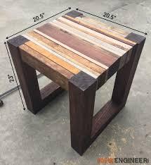 25 best wood side tables ideas on pinterest reclaimed wood side