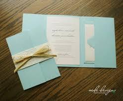 Rustic Beach Pocketfolder Wedding Invitation Kit