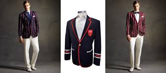 Modern College Boating Blazers In Navy Red White And Green With Piping