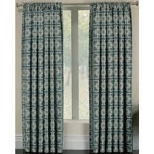 shop allen roth thaddeus 95 in wave polyester rod pocket light