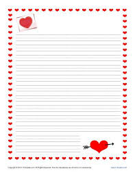 Valentine s Day Writing Paper for Kids