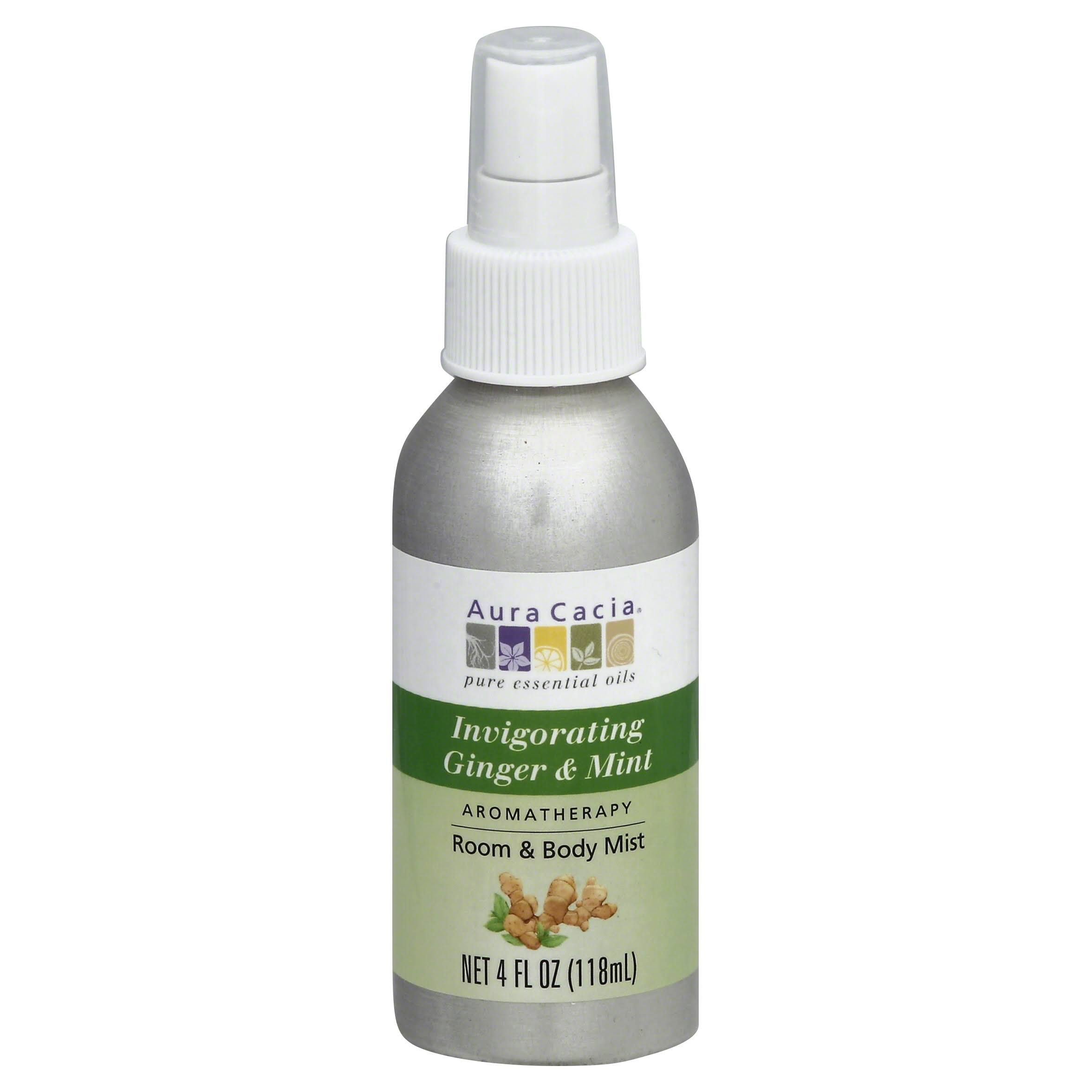 Aura Cacia Aromatherapy Body Mist - Ginger and Mint, 4oz