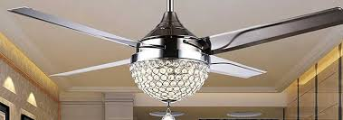 Lovely Chandelier Ceiling Fan In Unusual Design Ideas With Dining Room Crystal
