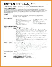 Ot Cover Letter For Massage Therapist Position Free Occupational Therapy Resume Templates