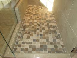 this is a 2x2 porcelain mosaic tile on a shower pan which is multi