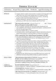 Receptionist Resume Example Profile Examples Summary Skills Tips