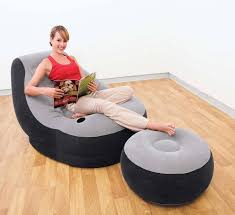 Intex Inflatable Sofa Bed by Original Authentic Intex Inflatable Flocking Sofa Single Sofa Lazy