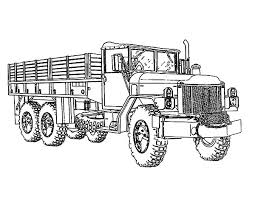 Army Car Soldier Carrier Coloring Pages