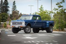 100 1972 Chevy Truck 4x4 Big Blue Custom Longhorn Crewcab Dually W A 454