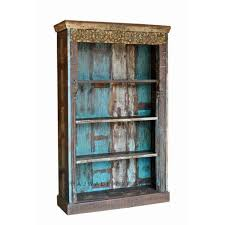 Solid Rustic Art Barn Wooden Reclaimed Wood Almirah Bookcase