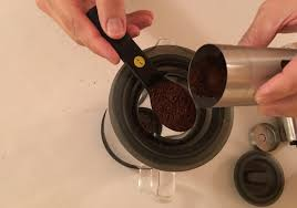 Add Freshly Ground Coffee To The Brew Filter We Used 5 Heaping Tablespoons Of For Half Three 8 Oz Cups Carafe