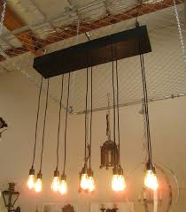 chandelier edison style lights vintage led bulbs hanging edison