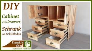 diy möbel selber bauen schrank mit schubladen aus holz anleitung franks shed