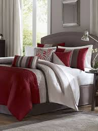 Madison Park Bedding Set Gray And Red Bedroom Ideas