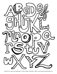The ABC Letters Free Printable Coloring Book Sheet