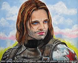 Captain America Bucky Barnes The Winter Soldier By WolfenM