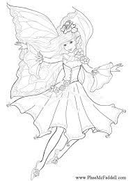 Moon Fairy Coloring Pages