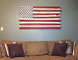 Amazing Inspiration Ideas Wooden American Flag Wall Art Rustic Wood Made By Veteran 25 Unique
