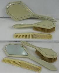 Celluloid Vanity Dresser Set by Sets Trays Vanity Perfume Grooming Men