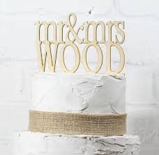 Wide Rustic Wedding Cake Topper Or Sign Mr And Mrs Custom Personalized With YOUR Last Name Paintable Stainable Wood
