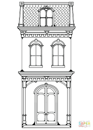 Click Row House Coloring Pages White Book