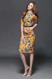 fashion trends floral print dress without sleeves combined