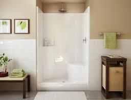 4 Inch Drain Tile Menards by Maax Evergreen 1 Piece Shower Rh Seat Center Drain At Menards