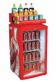 108 Litre Glass Door Beverage Refrigerated Showcase Small Cooler For Display
