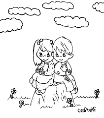 Awesome And Beautiful Boy Girl Coloring Pages Chuckbutt Com