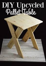 Make Outdoor End Table by Pallet Project Upcycled Pallet Table