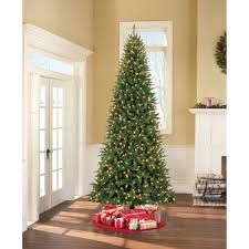 Black Slim Christmas Tree Pre Lit by Holiday Time Pre Lit 9 U0027 Williams Pine Artificial Christmas Tree