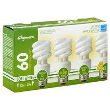 compact fluorescent light cfl bulbs soft white 60 watt