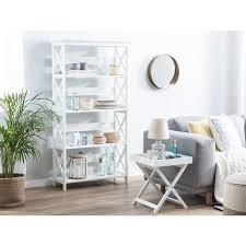 regal weiß mdf platte 152 x 80 x 30 cm modern legant dekorativ praktisch 4 fächer viel stauraum wohnzimmer