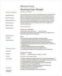 Marketing Project Manager Resume