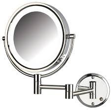 jerdon hl88cld 8x magnified lighted wall mount mirror chrome