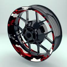 Rim Sticker Stripes Wheel Decal Wheelsticker
