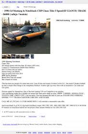 100 Sf Craigslist Cars And Trucks For 6000 Is This Mustang A San Francisco Treat