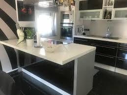 einbauküche nolte küchen mit mittelblock und elektrogeräten