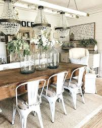 Farmhouse Dining Room Decorating Ideas Decor Rustic Table At Best