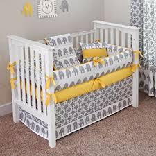 amazon com custom boutique baby bedding ele yellow 5 pc crib