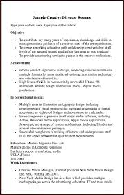 Here Is The Free Sample Of Creative Director Resume You Can Preview It