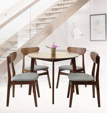 SK New Interiors Dining Round Table And 4 Yumiko Side Chairs (Set Of 5)  Solid Wood Medium Brown Finish Sonoma Road Round Table With 4 Chairs Treviso 150cm Blake 3pc Dinette Set W By Sunset Trading Co At Rotmans C1854d X Chairs Lifestyle Fniture Fair North Carolina Brera Round Ding Table How To Find The Right Modern For Your Sistus Royaloak Coco Ding With Walnut Contempo Enka Budge Neverwet Hillside Medium Black And Tan Combo Cover C1860p Industrial Sam Levitz Bermex Pedestal Arch Weathered Oak Six