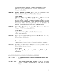 Sample Resume For Teaching Vitae Teachers Free Example And Writing Samples